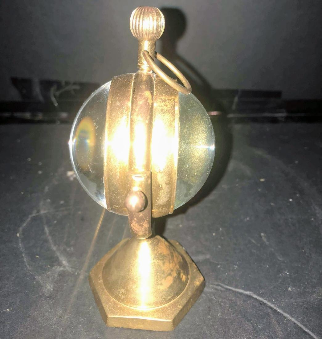 Antique Luxury Desk Table Clocks Big Ball Magnifying - 2