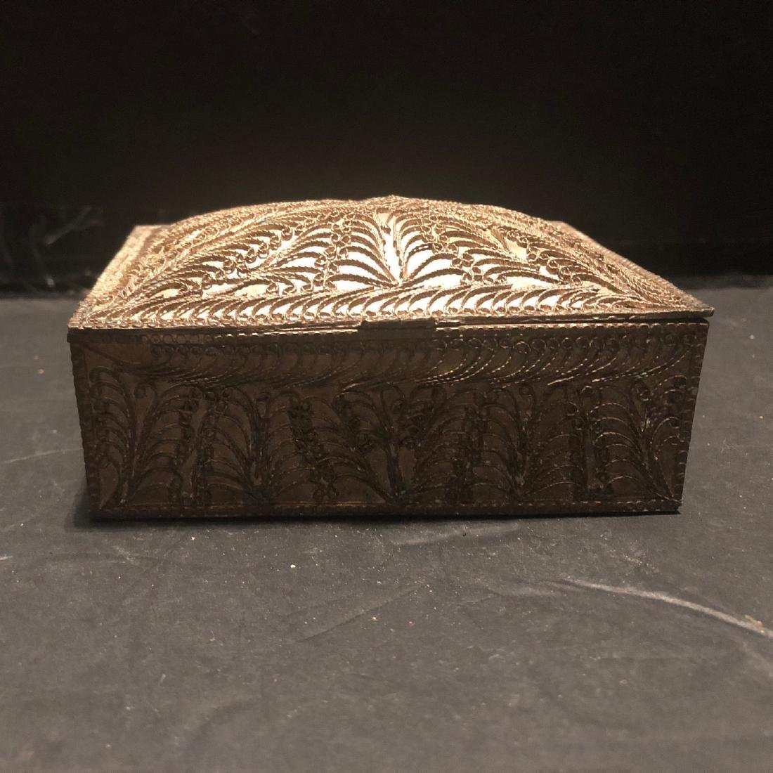 Antique Persian Solid Silver Cigarette Box 1890