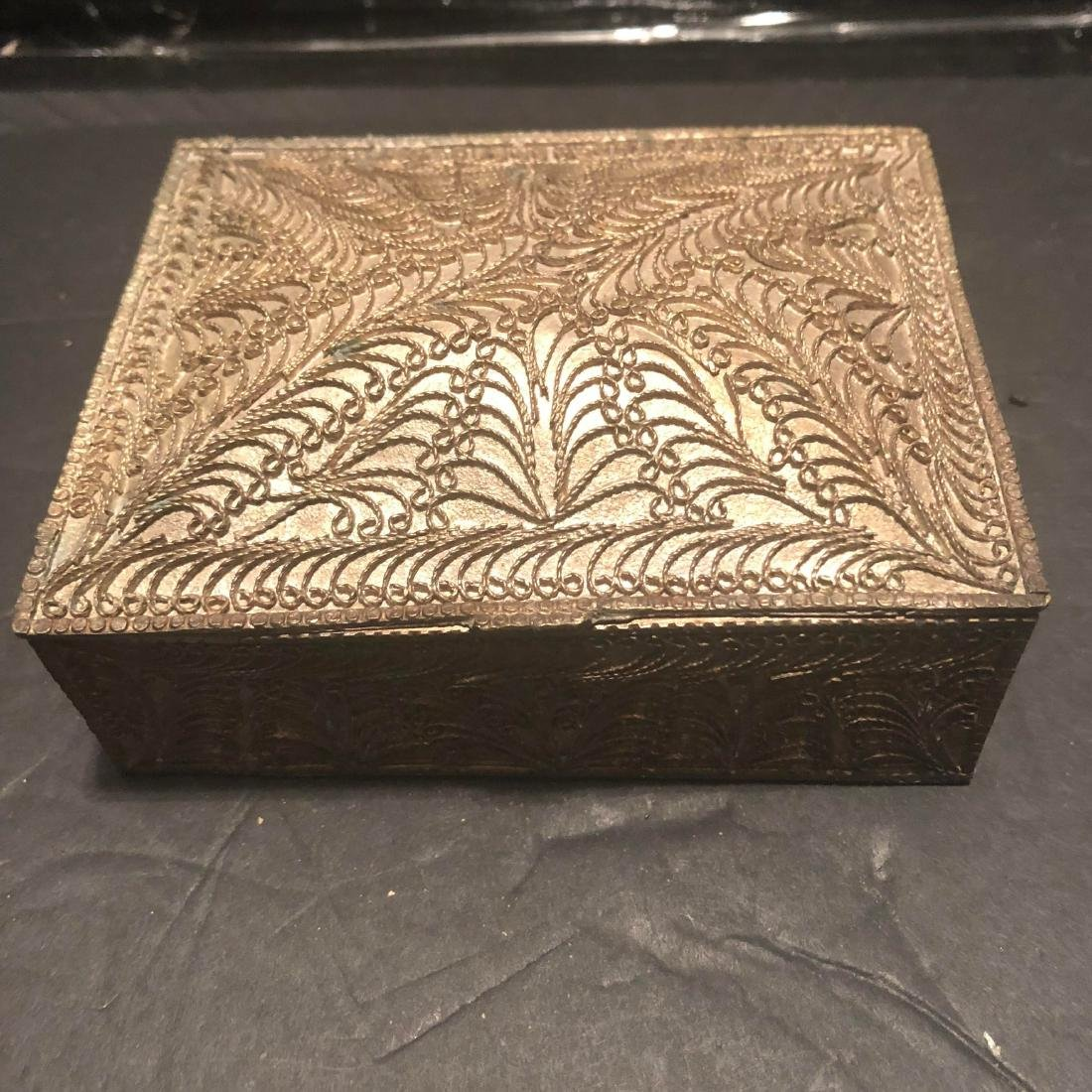 Antique Persian Solid Silver Cigarette Box 1890 - 3