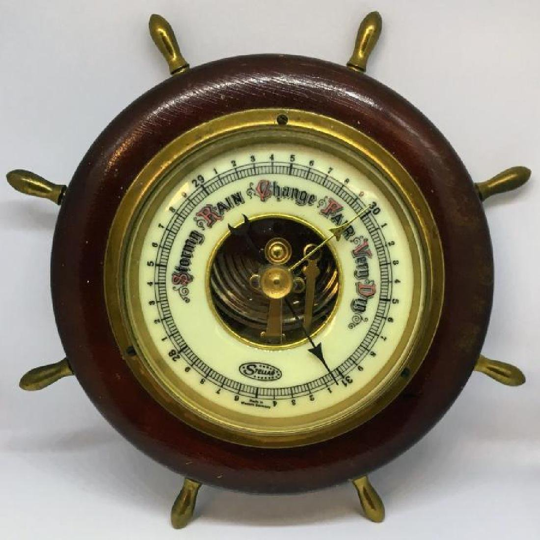 Vintage Nautical Barometer by Stellar Made in West