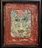 Alexander Gore Listed Artist Mixed Media Painting W/