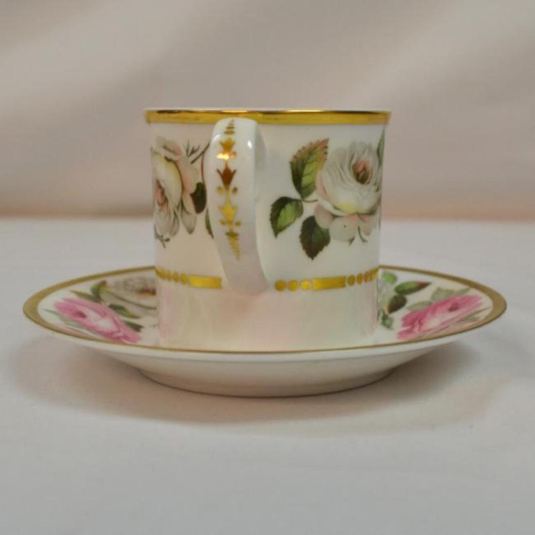 Royal Worcester Antique Bone China Coffee Cup - 2