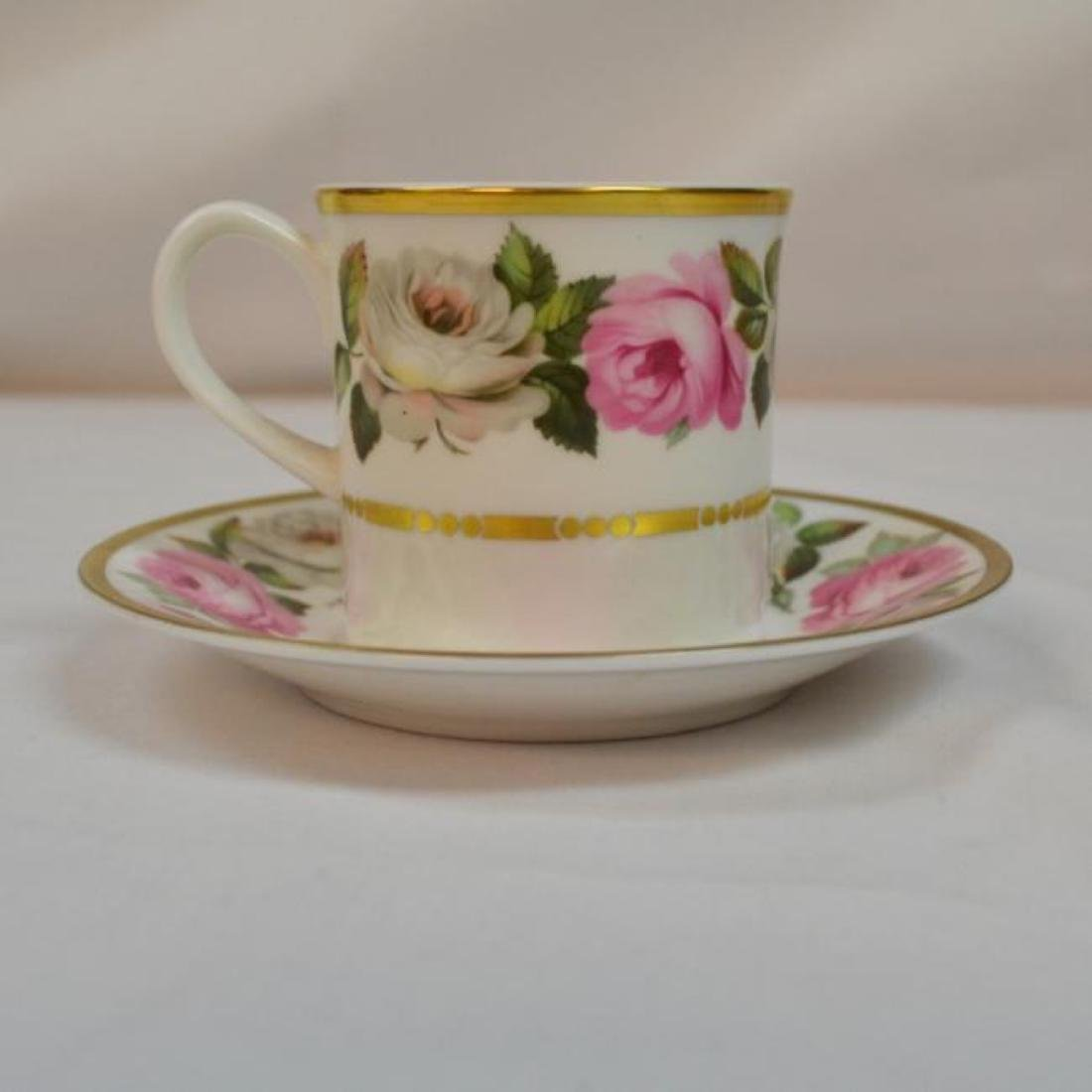 Royal Worcester Antique Bone China Coffee Cup - 3