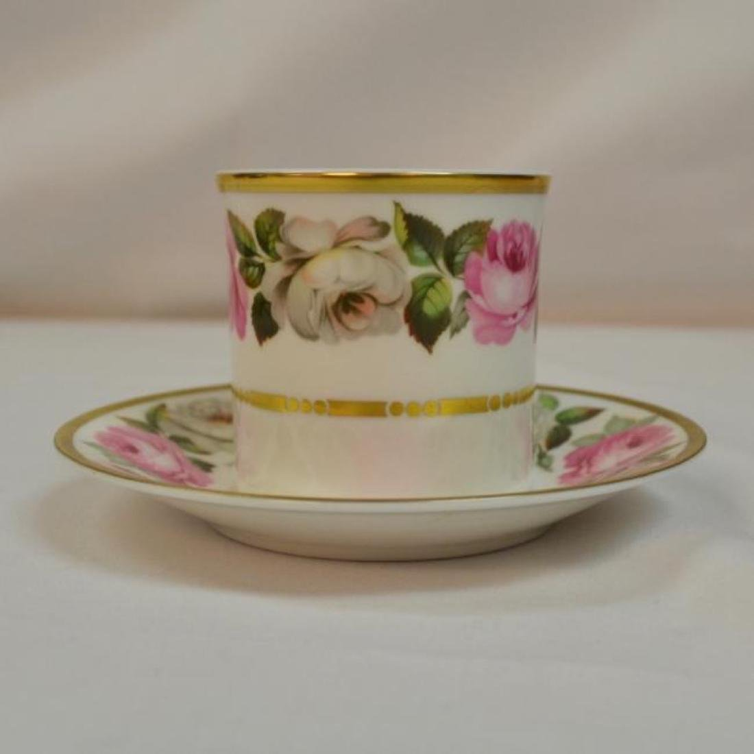 Royal Worcester Antique Bone China Coffee Cup - 4