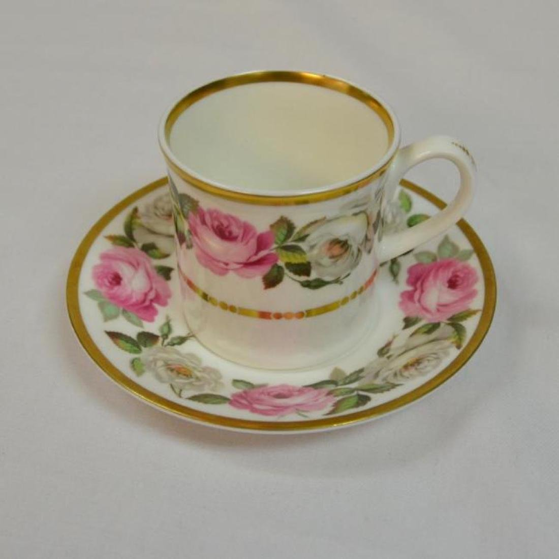Royal Worcester Antique Bone China Coffee Cup - 5