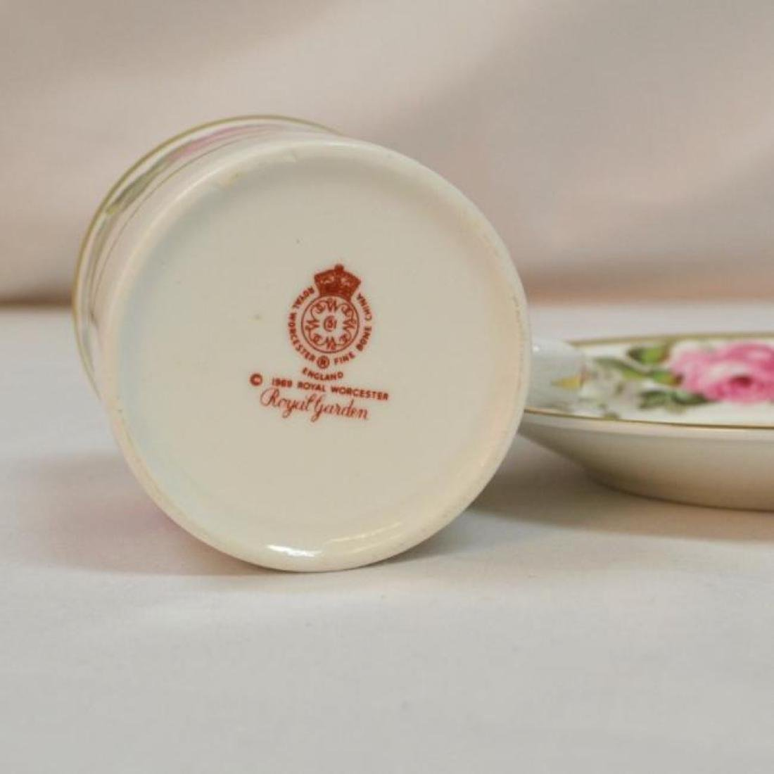Royal Worcester Antique Bone China Coffee Cup - 7