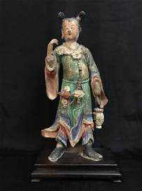 Antique Chinese Ming Dynasty figural three colour