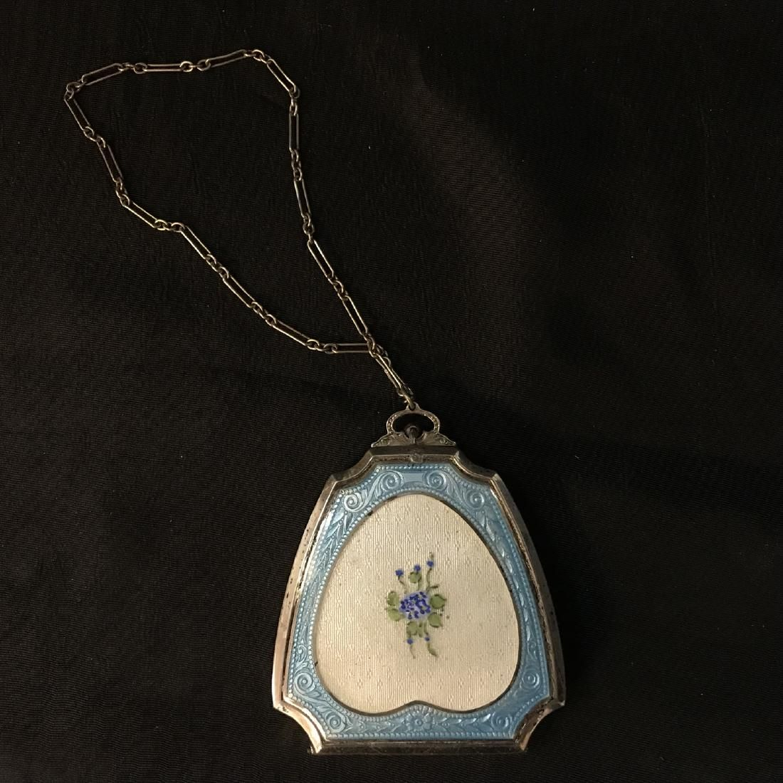 Vintage/Antique, Sterling Silver, Hand painted,