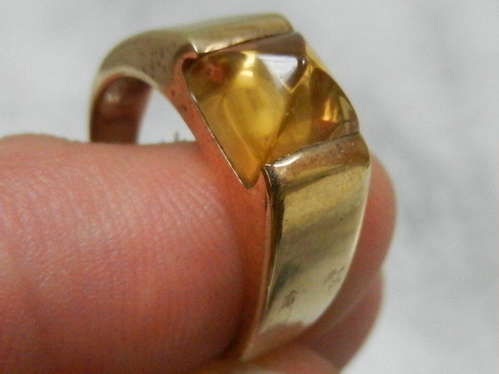 Gold, Pyramid Topaz Ring