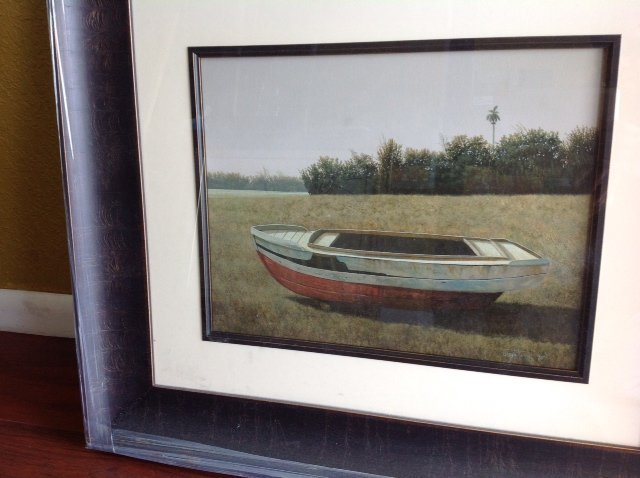 Ruined boat painting