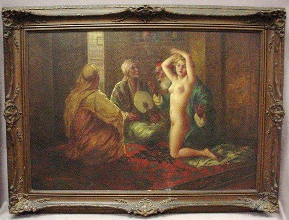 Orientalist Oil Painting by Eugene Ansen Hofmann