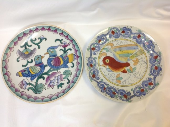 Beautiful Vintage Chinese Porcelain Plate Hand-Painted