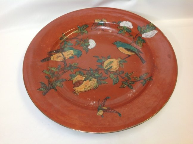 Vintage/Antique Chinese Hand-Painted Decorated Plate