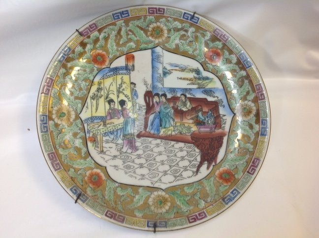 Chinese Hand Painted Porcelain Plate