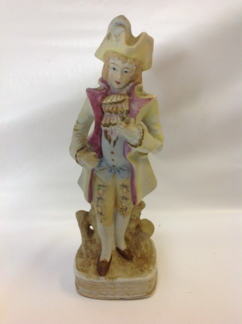 Victorian Hand Painted Porcelain Colonial Man