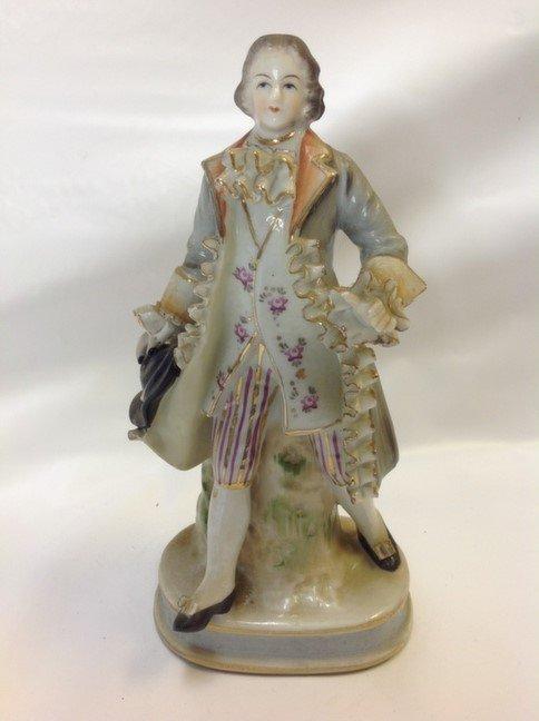 Occupied Japan Victorian Man Figurine porcelain