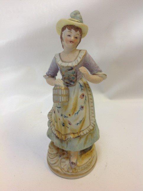 Occupied Japan Victorian Lady Figurine biscuit