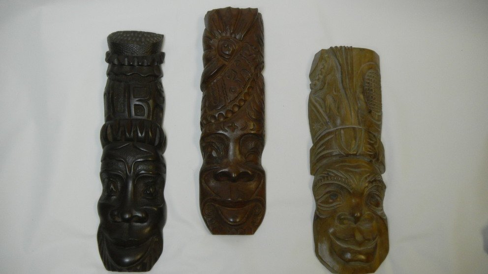 Wooden Cuban Masks