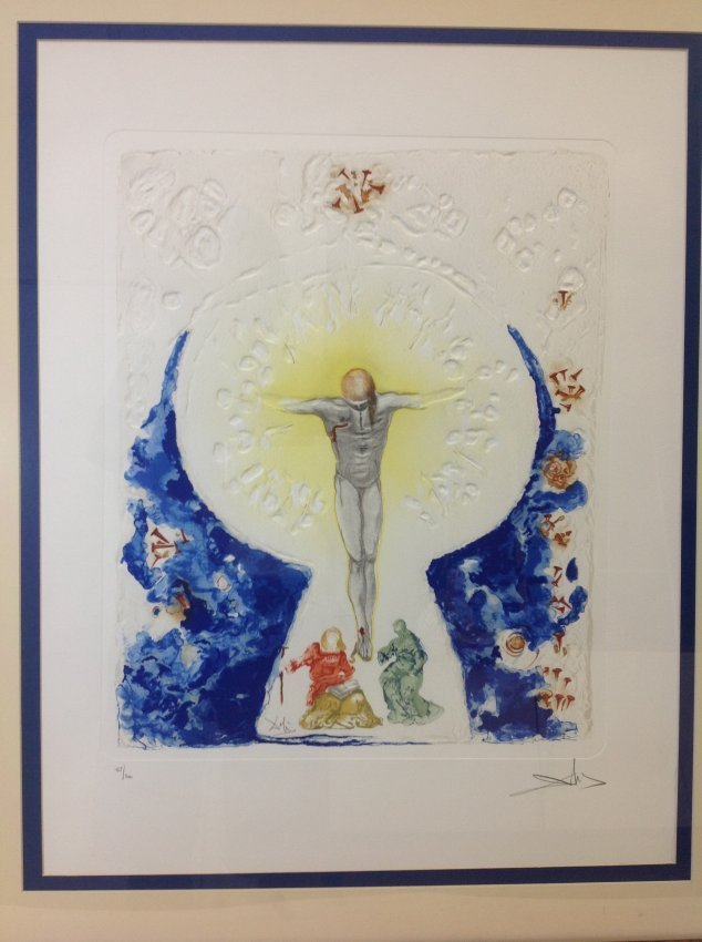 """Salvador Dali Signed and Numbered Print """"L'Hostie"""""""