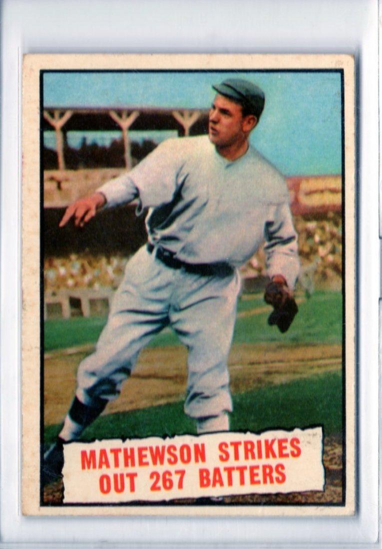 1961 Mathewson Strikes out 267 Batters Topps #408