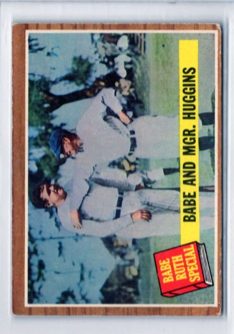 1962 Babe Ruth Special -Babe with Mgr. Huggins Topps #1