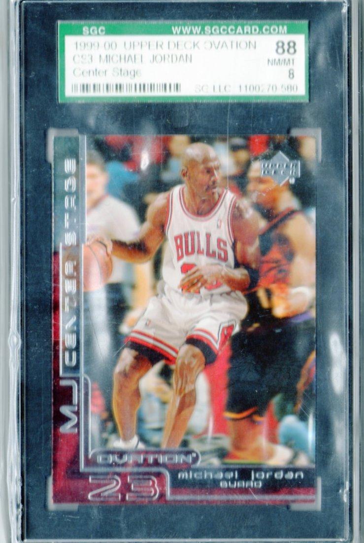 1999-00 Michael Jordan Upper Deck CS3 SGC Rated 88 NM/M
