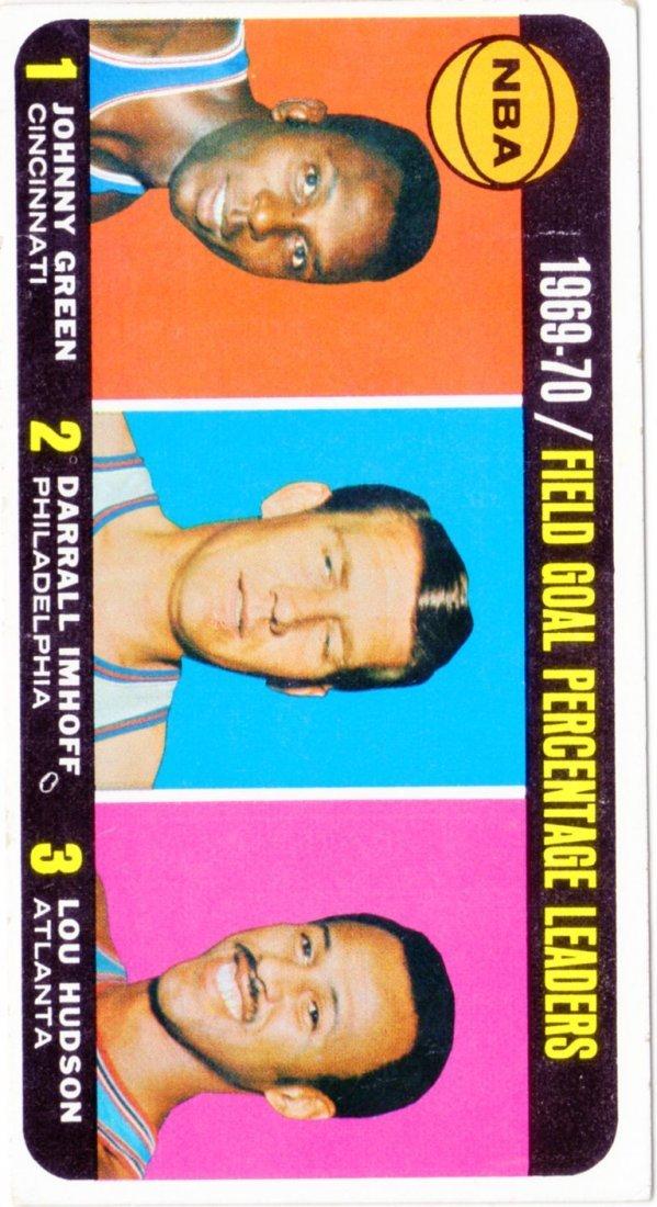 1969-70 Field Goal Percentage Leaders Topps #3