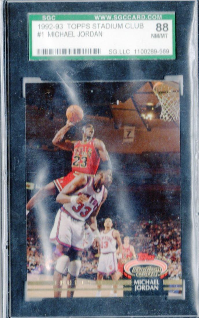 1992-93 Michael Jordan Topps SC #1 Graded SGC NM/MT 88