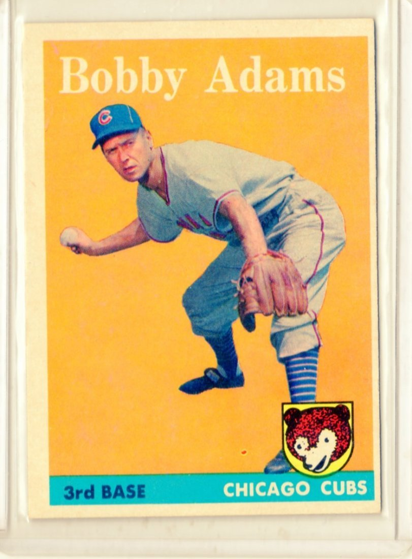 1958 Bobby Adams Topps # 99 3rd Base Cubs