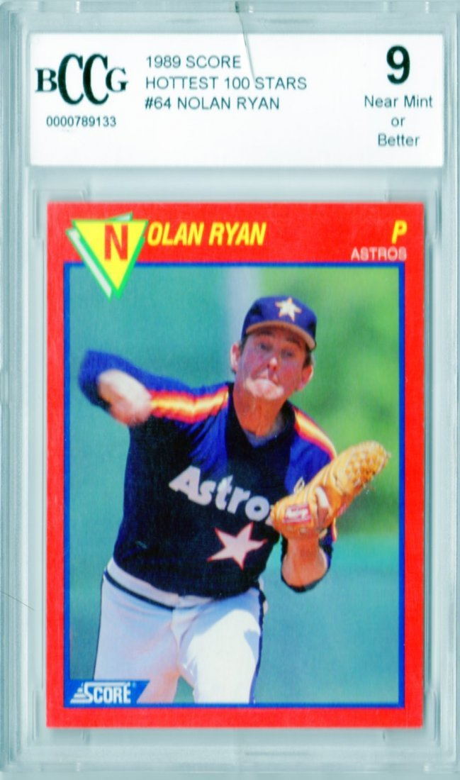 1989 Nolan Ryan Score #64 BCCG Rated NM or Better 9