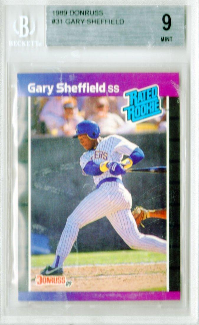 1989 Gary Sheffield Donruss #31 Beckett Rated Mint 9