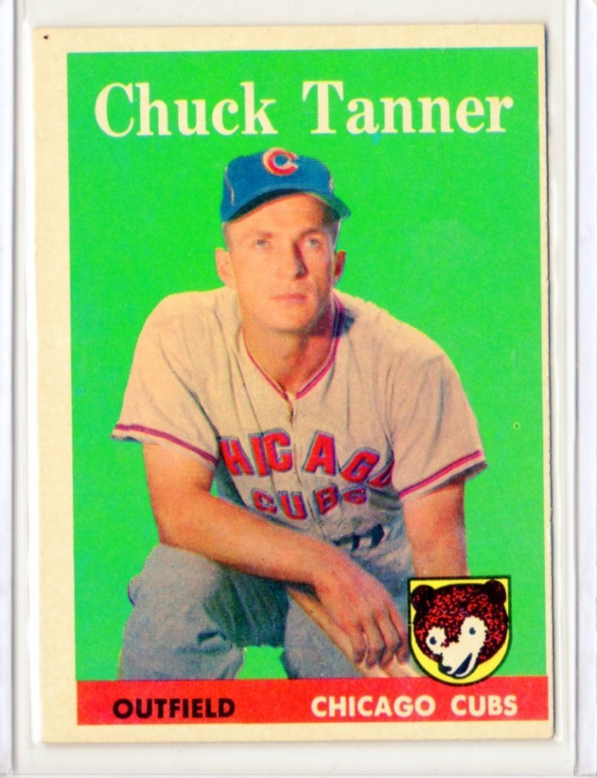 1958 Chuck Tanner Topps #91 Outfield Cubs