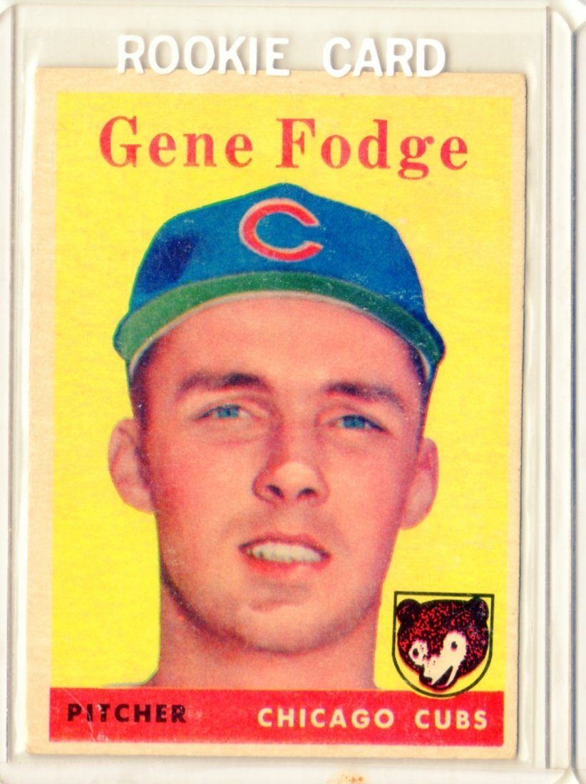 1958 Gene Fodge Topps #449 Pitcher Cubs Rookie Card