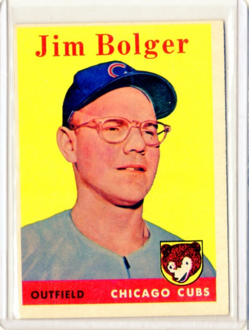 1958 Jim Bolger Topps #201 Outfield Cubs