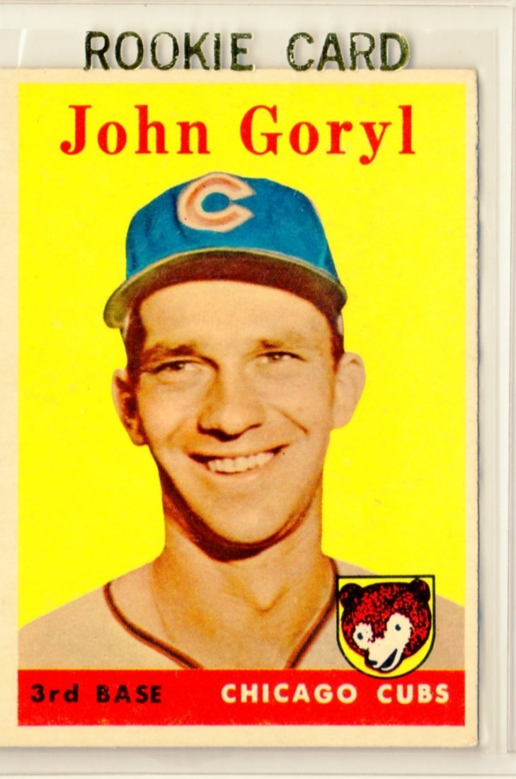 1958 John Goryl Topps #384 3rd Base Cubs Rookie Card
