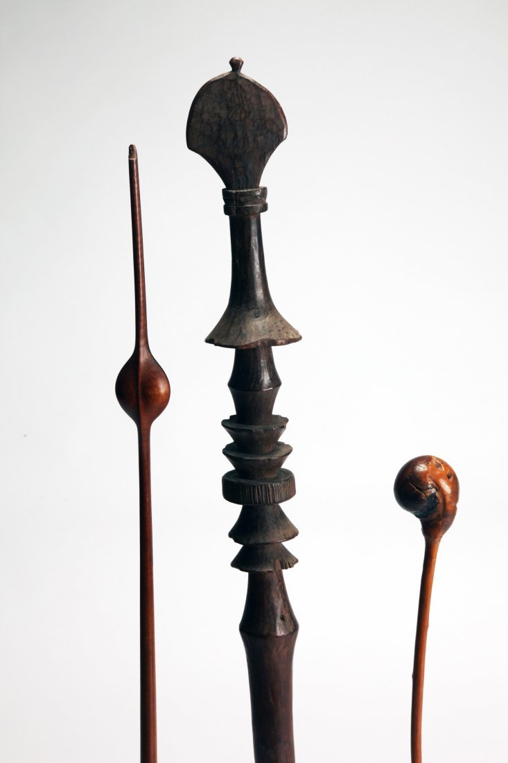 Lot of 3 African Carved Wood objects - 2