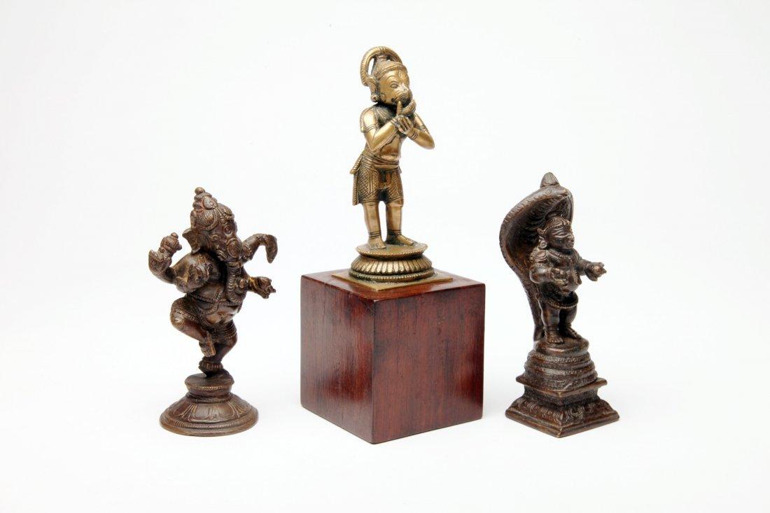 Three Indian Bronze Figures