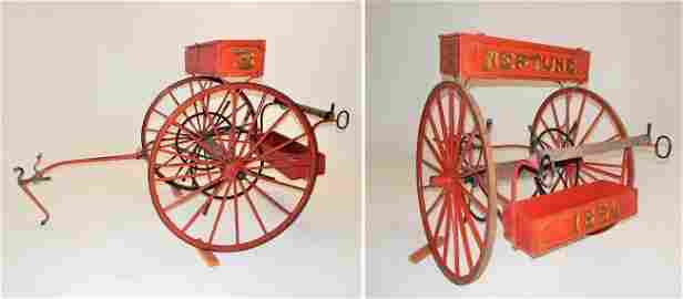 Circa 1856 Neptune Hose Co. #3 Hand Pulled Fire Cart