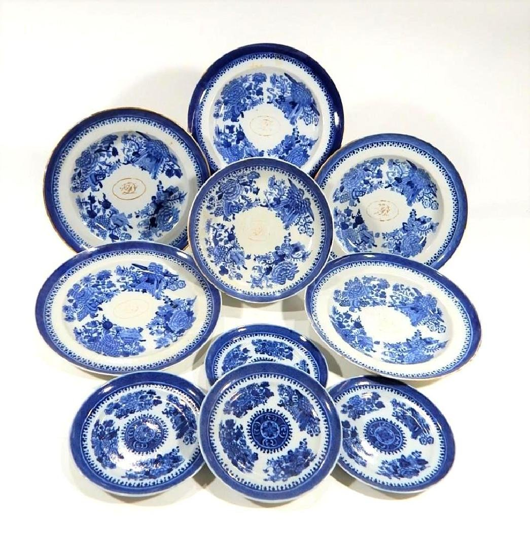 Group of Fitzhugh Chinese Export Porcelain