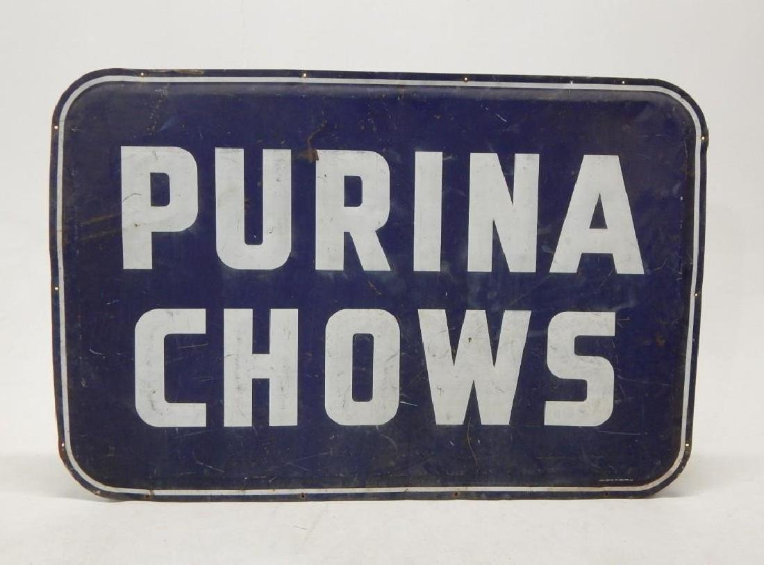 Large Purina Chows Advertising Sign - 2