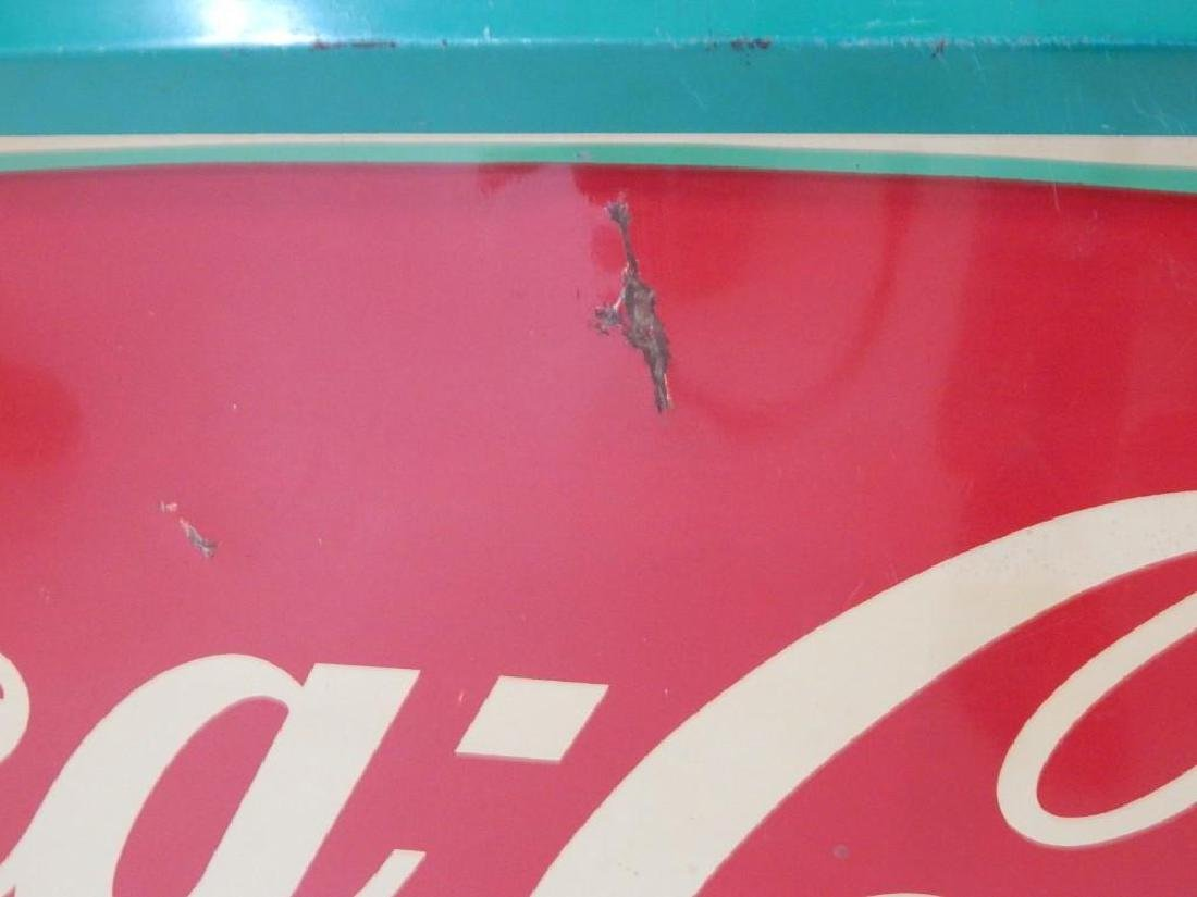 Large Coca-Cola Metal Fishtail Sign - 3