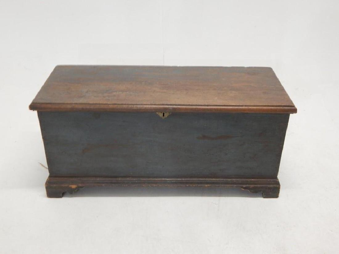 Early Blue Painted Blanket Chest - 3