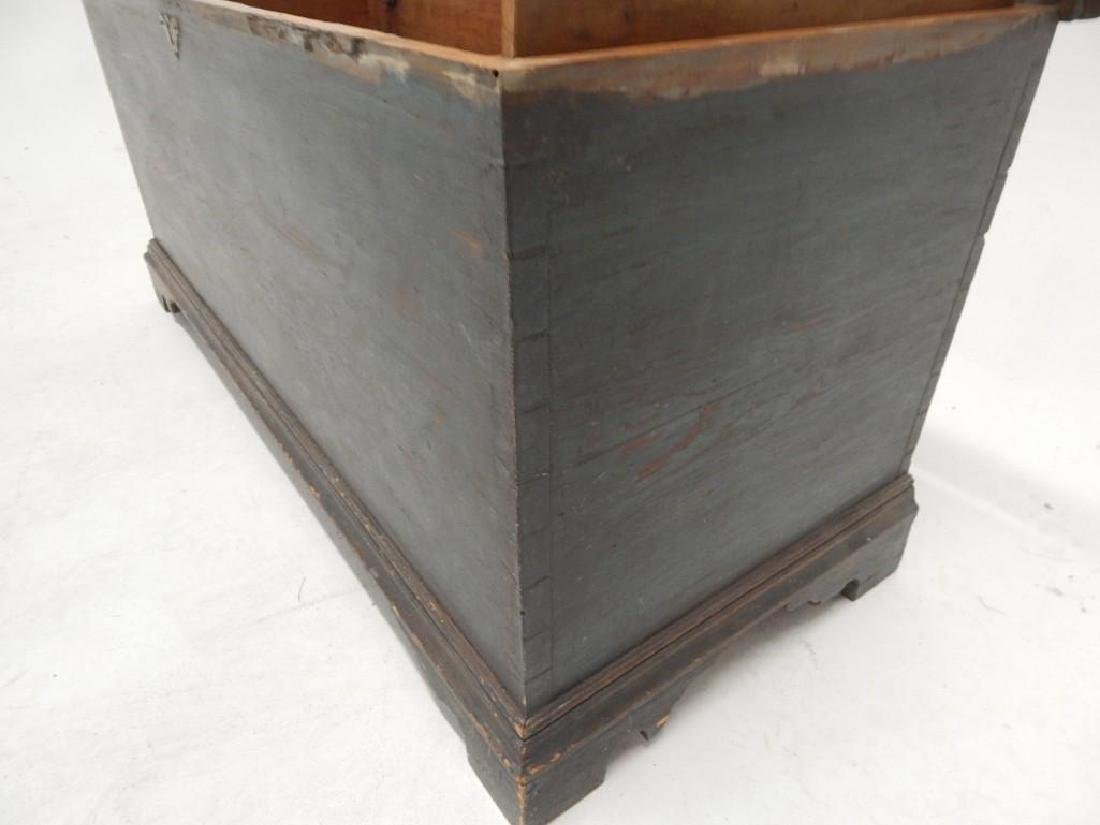 Early Blue Painted Blanket Chest - 9