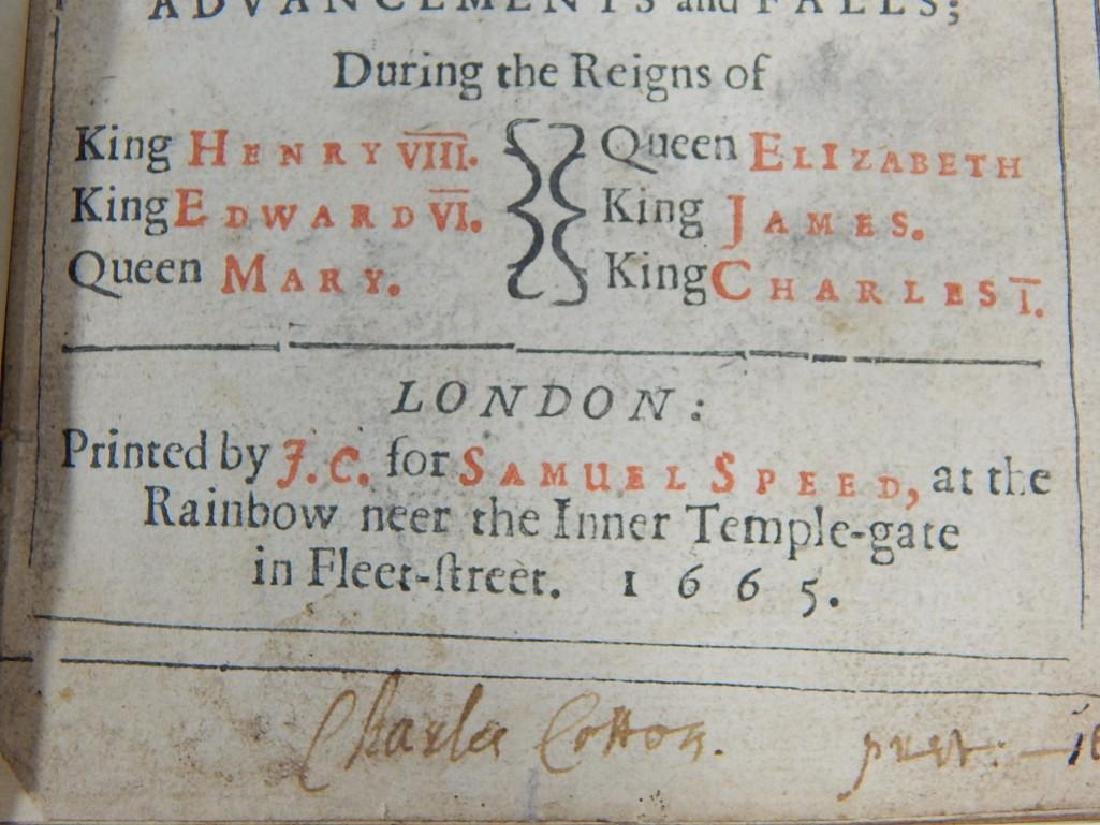Very Rare 1665 Book Signed by Charles Cotton - 7