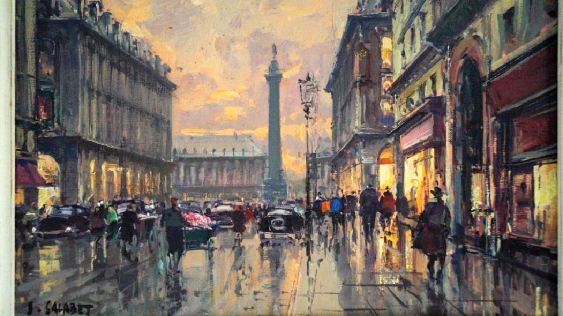 Jean Salabet Parisian Street Scene - 2