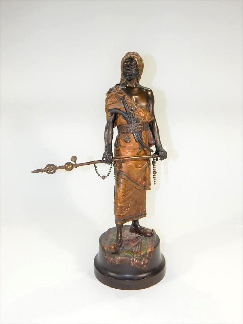 Austrian Cold Painted Bronze of Ottoman Warrior