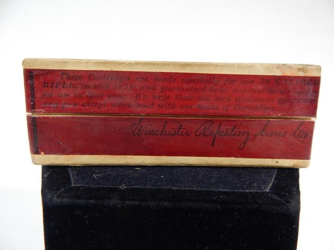 Rare Winchester Model 1873 .38 Cal Full Ammo Box - 4