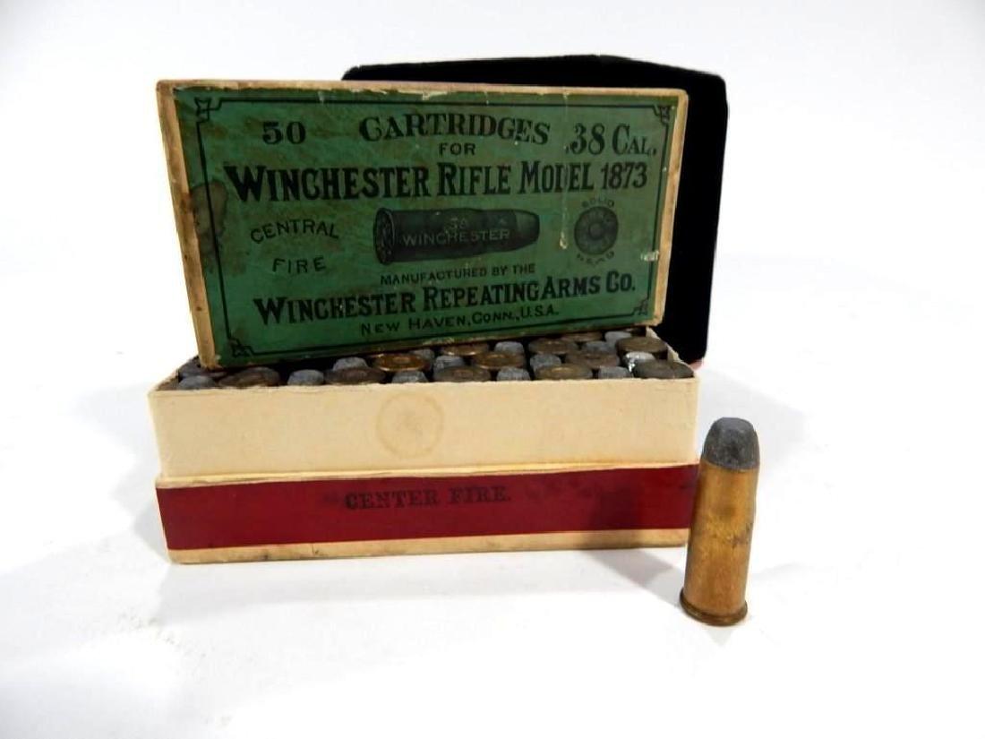 Rare Winchester Model 1873 .38 Cal Full Ammo Box - 8