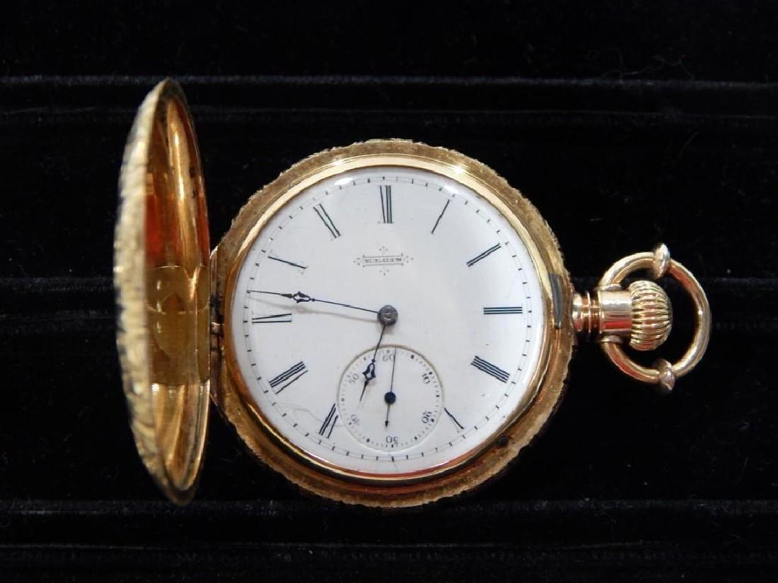 Elgin Mens 18k Gold Pocket Watch - 2