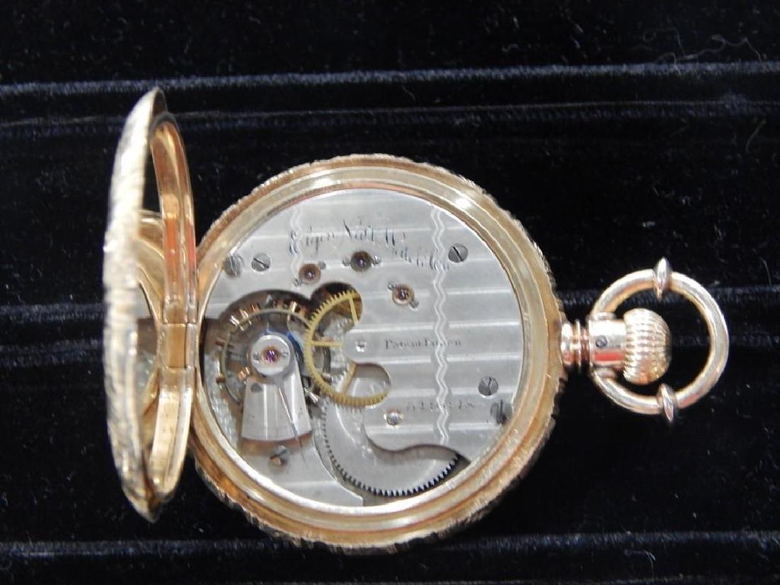 Elgin Mens 18k Gold Pocket Watch - 4